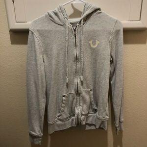 True Religion Gray Zip-Up Jacket